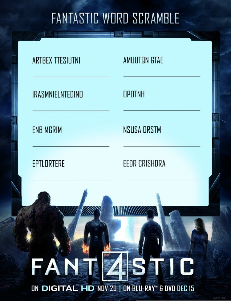 Fantastic Four Word Search Pt. 2