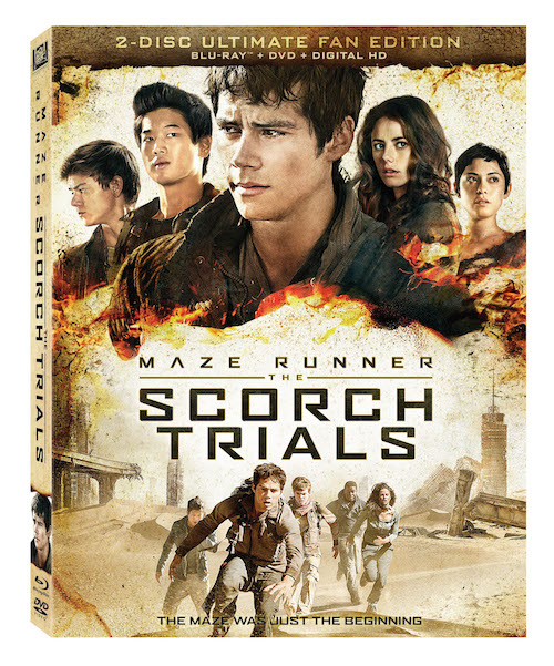 MAZE RUNNER SCORCH TRIALS Blu-Ray