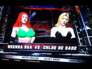 Brenda Rua VS Chloe De Sade (WWE 12)