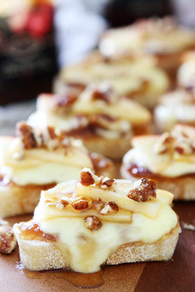 Brie, Apple & Honey Crostini by Two Peas and Their Pod