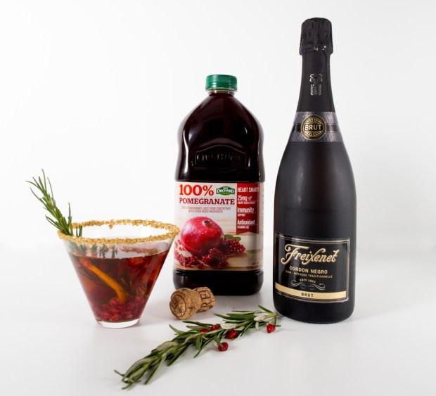 Pomegranate-Cava-Martini