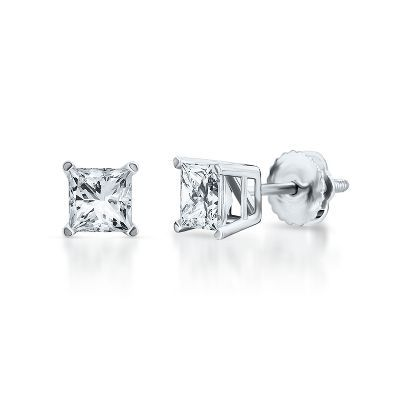 Diamonds - 1 Cart TW Diamond Stud Earrings-