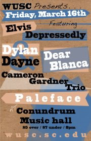 Show Preview: WUSC Presents... Elvis Depressedly, Paleface, & More