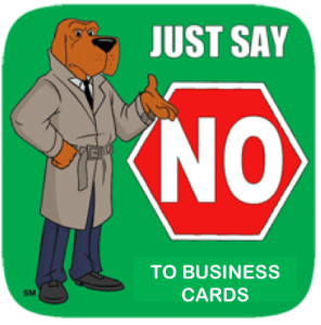 Just Say No To Business Cards