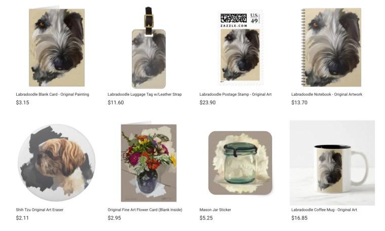 Zazzle shop products