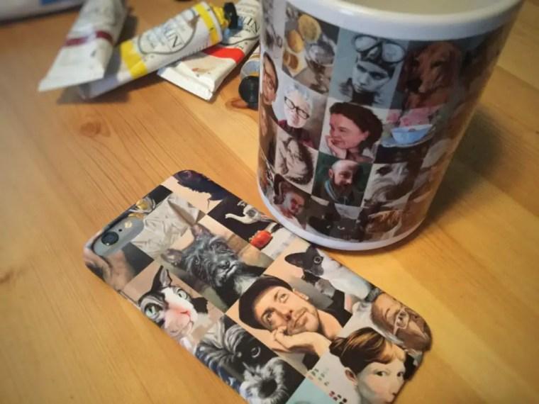 Zazzle coffee mug and iphone case