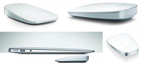 White LOGITECH UltraThin Touch Mouse T631 for Mac