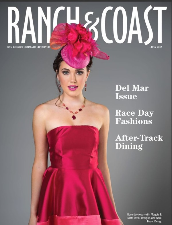 Ranch and Coast magazine cover for this summer featuring Studio Savvy helping with fashion, hair, and make up