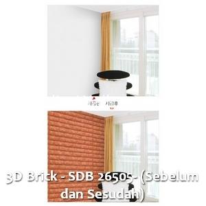 3D Brick - SDB 26505- (Sebelum dan Sesudah)