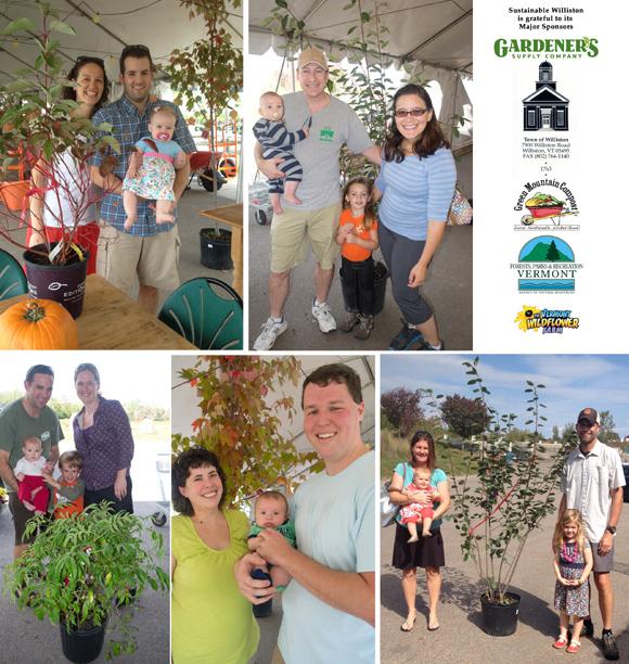 Williston families at the 2014 Birth Trees celebration