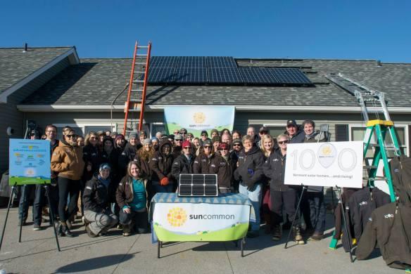 SunCommon rooftop solar installation