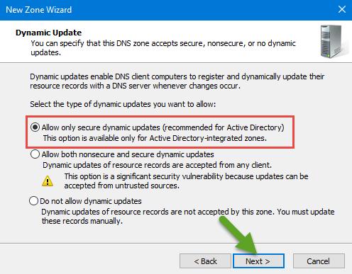 Dynamic update