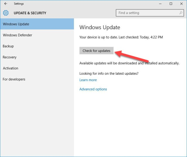 Install Windows 10 updates & drivers automatically