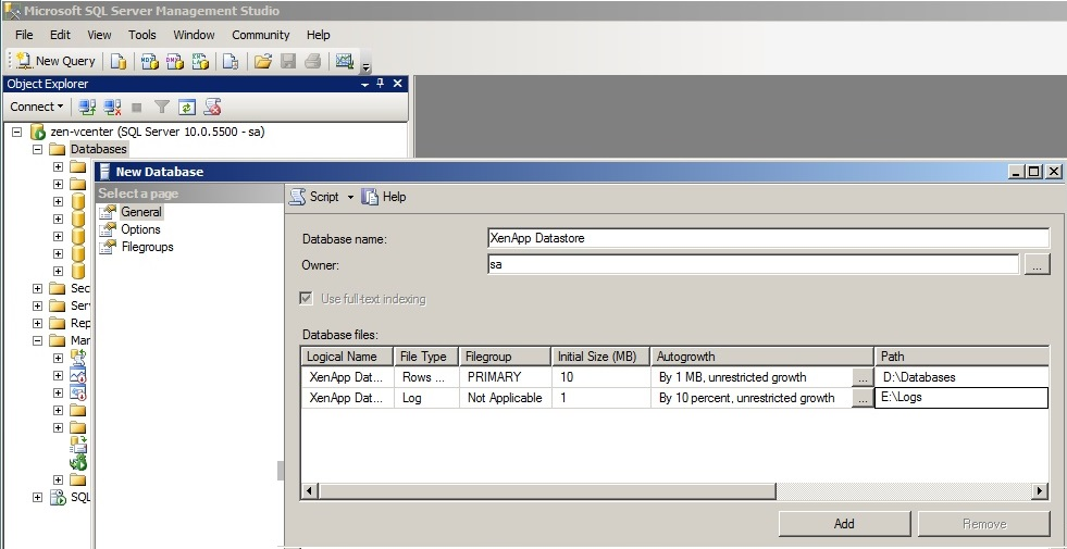 XenApp-Service-Account-1 Creating a Citrix XenApp Database Service Account in SQL