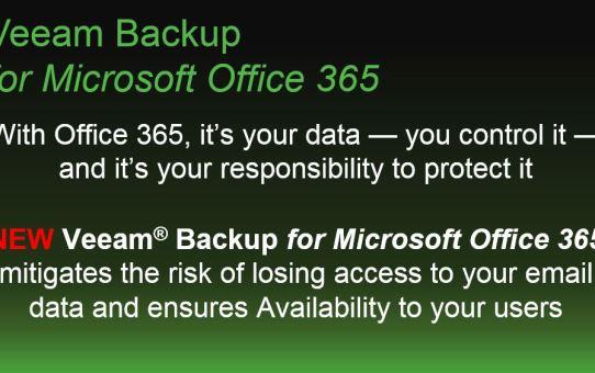 O365 Veeam Backup for Microsoft Office 365 #NextBigThing