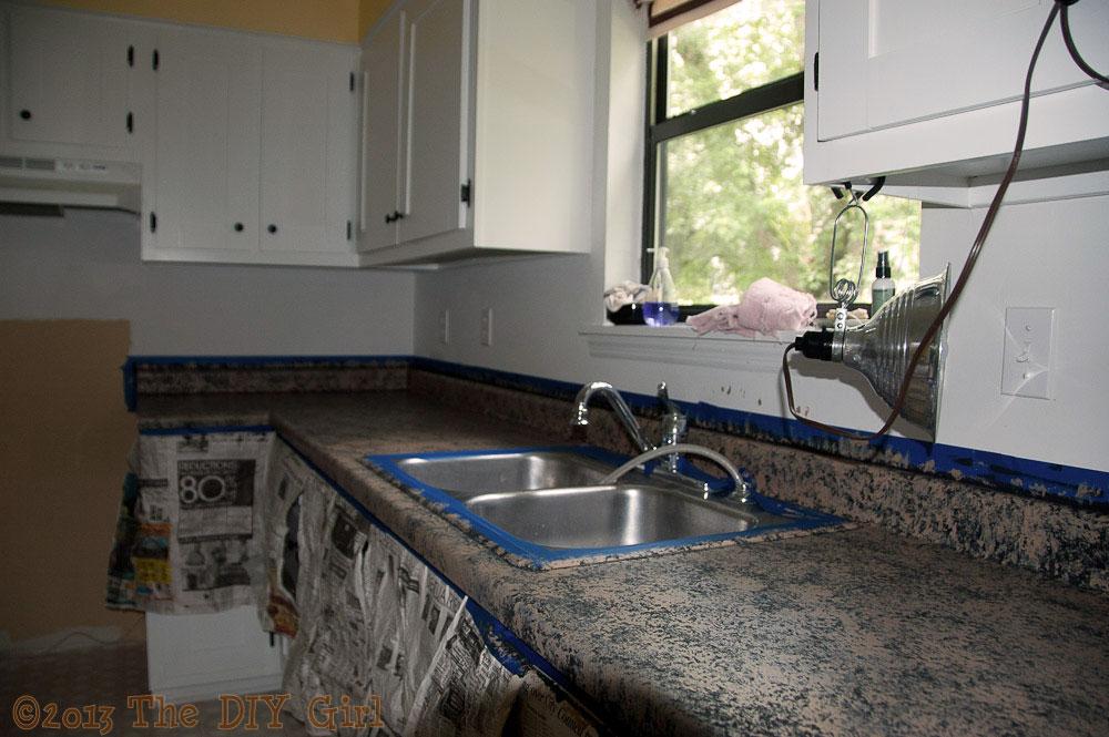 Countertop Paint Problems : 70 Countertop Fix - Giani Granite Paint Part 1 - TheDIYGirl.com