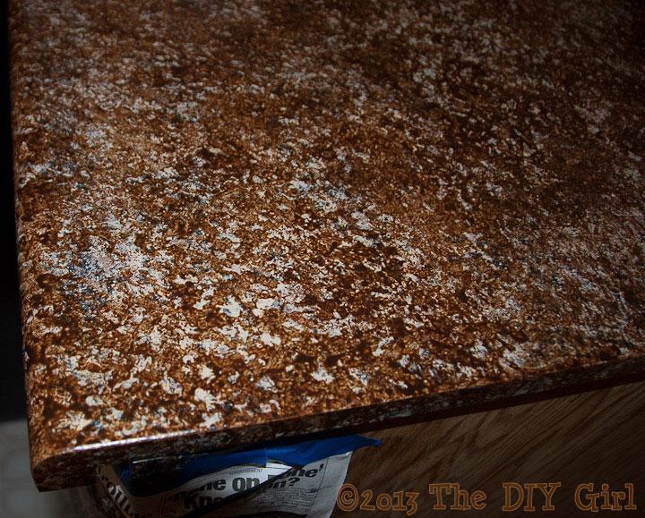 70 Countertop Fix - Giani Granite Paint Part 1 - TheDIYGirl.com