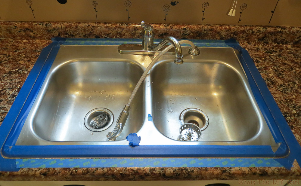 Captivating Caulking Sink After Giani Granite Paint   The DIY Girl