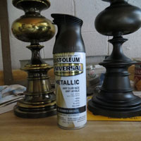 Lamp Update With Rustoleum Oiled Bronze Spray Paint The