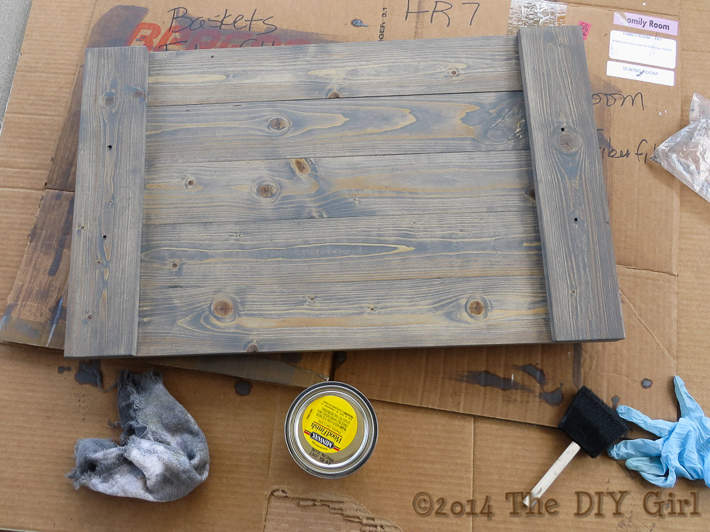Gray Weathered Wood Finish Success At Last The Diy Girl