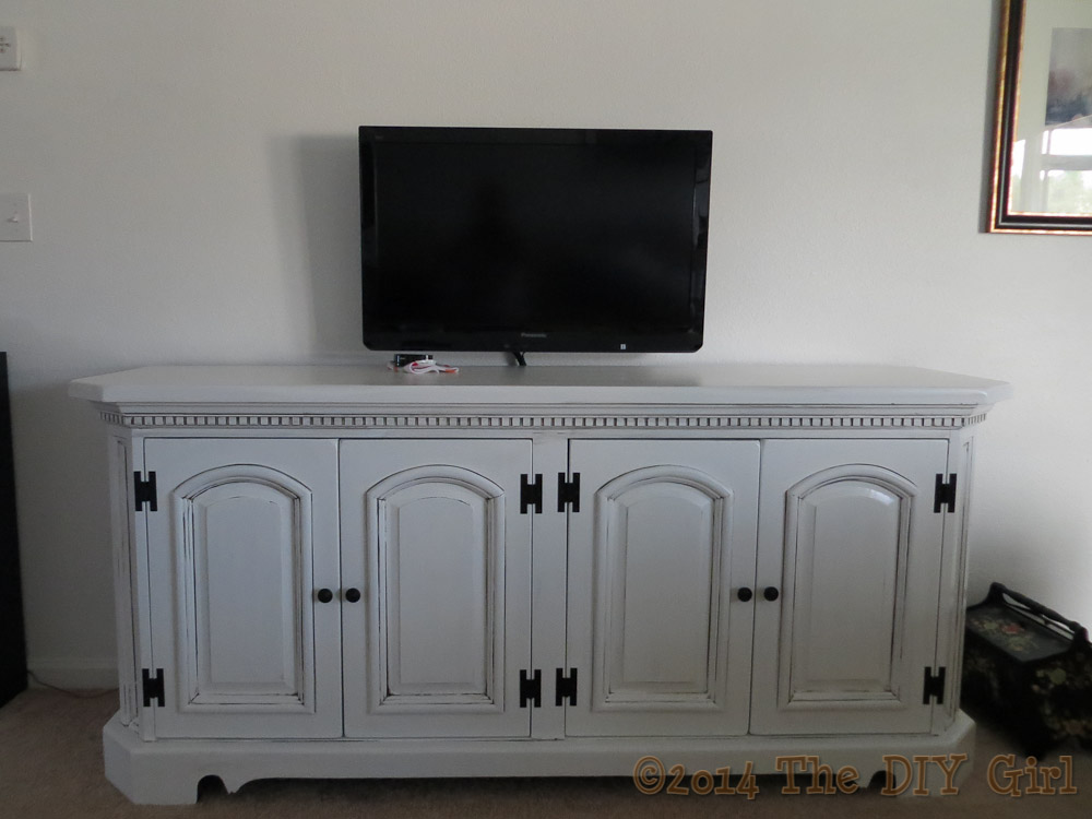 media cabinet and TV wall mount The DIY Girl