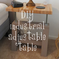 DIY Industrial adjustable bedside tables - The DIY Girl