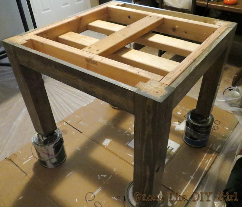 DIY rustic living room table - The DIY Girl