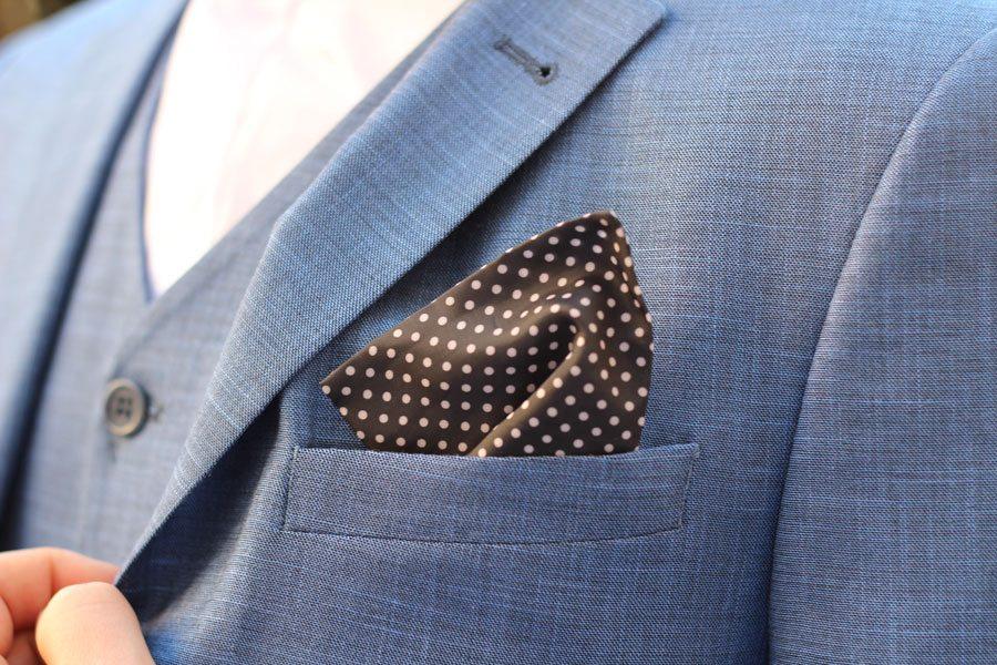 Wedding-Formal-Wear-Robin-James-The-Utter-Gutter-Blue-Skinny-Fit-Suit-Pocket-Square-Polka-Dot