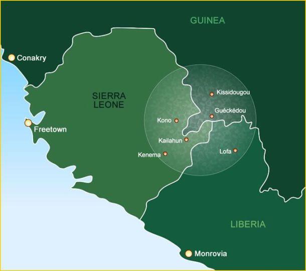 Sierra Leone, Guinea, Liberia