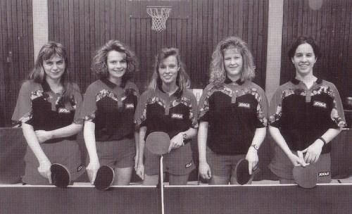 1996 - 3. Damenmannschaft von links nach rechts: Mine Karban, Tanja Häußler, Sonja Lipp, Sonja Stritzl, Melanie Rothfuß