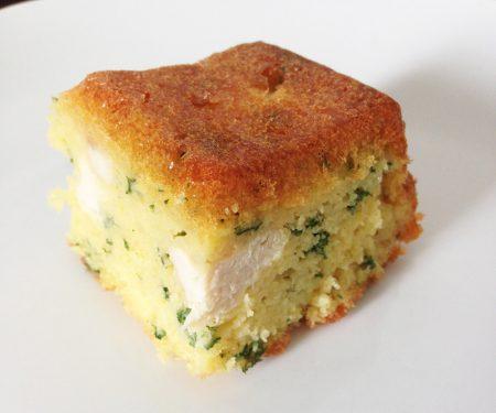 gâteau au poulet, lardons, jambon