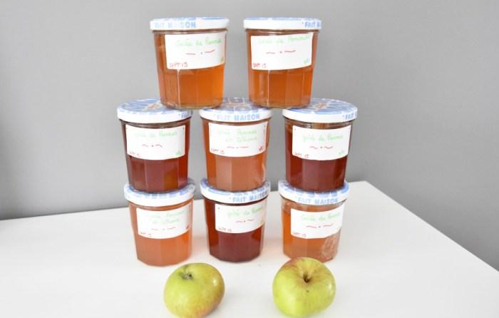 Gelée de pommes et de pommes citrons