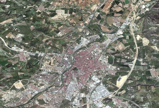 Fotografía aerea de Valladolid – Construcción Ikea