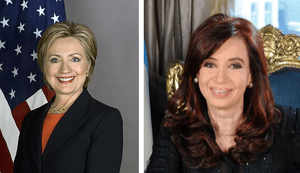 Hillary and Cristina, from Wikipedia