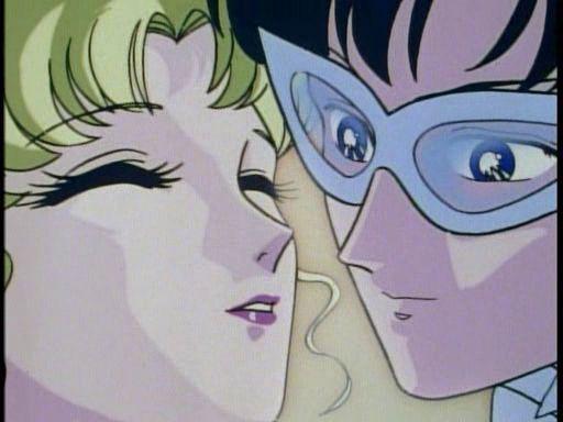Usagi and Tuxedo Mask Share a Kiss (Ep. 22)