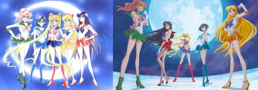 How Did the Sailor Moon Cast's Popularity Differ in the Anime and Manga?