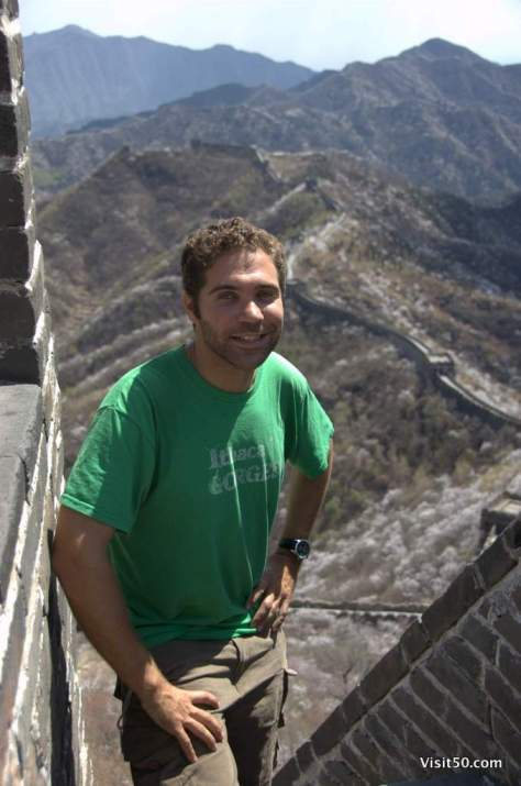at the Great Wall in China