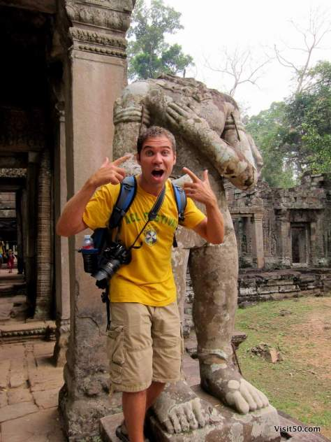 headless in Cambodia. The shirt is from my favorite music festival