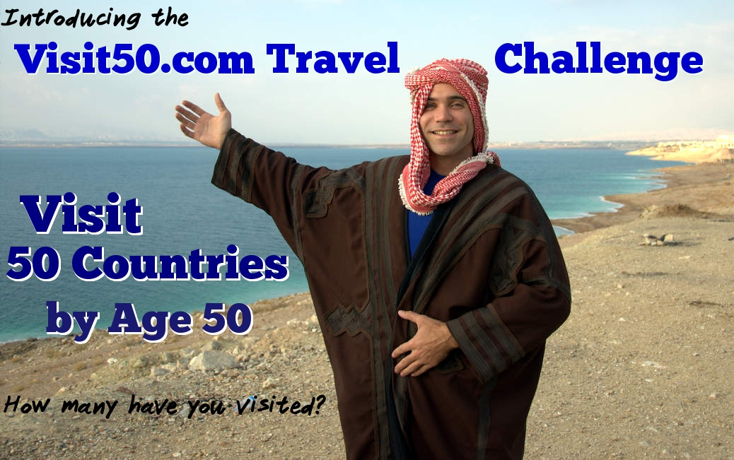 The Visit50.com Travel Challenge - 50 Countries by Age 50