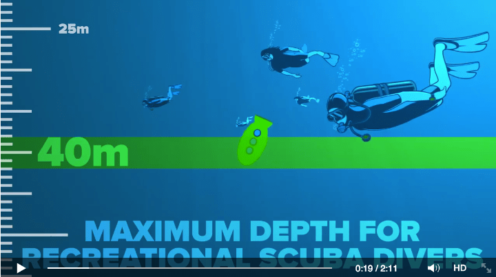 SCUBA maximum depth for recreational SCUBA Divers
