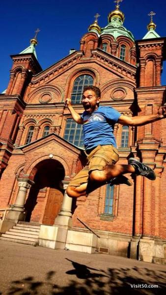 Jumping in Helsinki