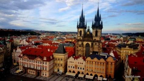 Prague has fairytale architecture
