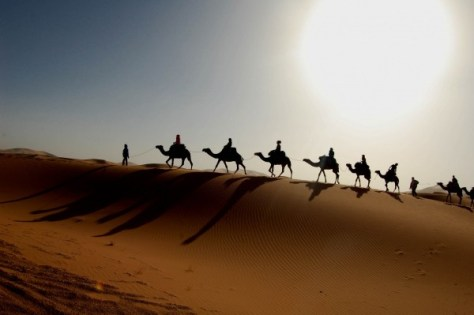 A camel ride through the desert in Morocco is on my travel bucket list