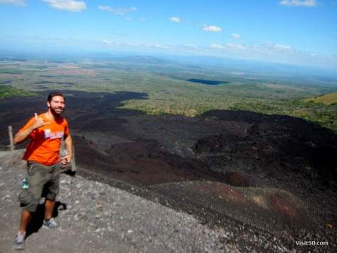 you can see where the lava wiped out everything in its path