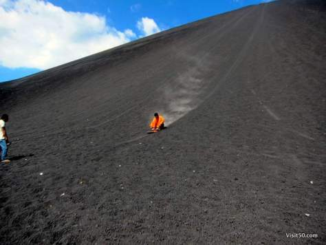 Volcano boarding!
