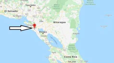 leon nicaragua map