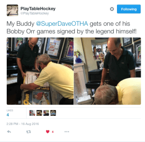 Super Dave K., Table Hockey legend meets NHL HoFer & legend, Bobby Orr!!!