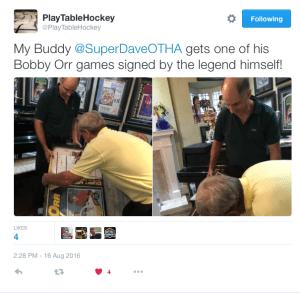 Super Dave K., Table Hockey legend meets NHL HoFer & legend, Bobby Orr!!!