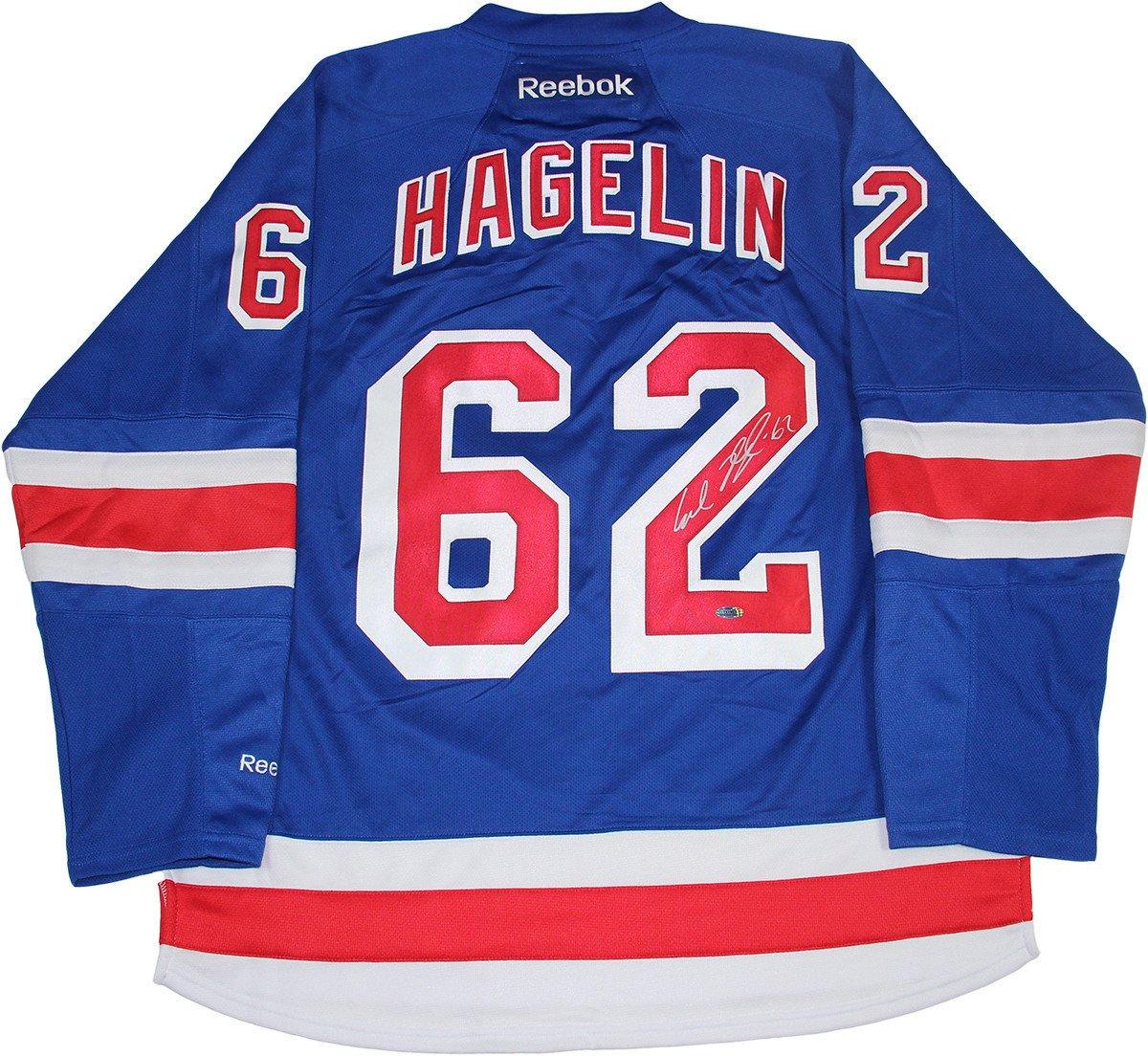 finest selection 6a7e0 8e94f Carl Hagelin Signed New York Rangers Blue Jersey · The World Table Hockey  Association, Inc.