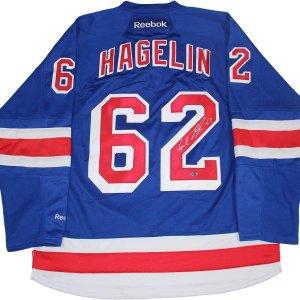 Carl Hagelin Signed New York Rangers Blue Jersey
